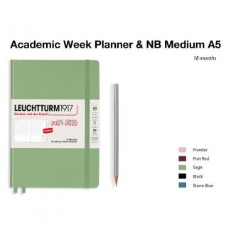 LEUCHTTURM1917 Medium (A5) AcademicWeek Planner 2022- 18 maanden