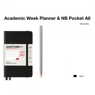 LEUCHTTURM1917 Pocket (A6) AcademicWeek Planner 2022- 18 maanden