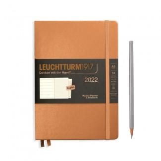 LEUCHTTURM1917 Medium (A5) Weekly Planner 2022& Notebook Metallic Edition