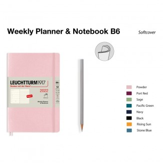 LEUCHTTURM1917 Paperback (B6) Weekly Planner 2022& Notebook Softcover